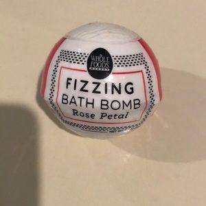 Rose petal bath bomb